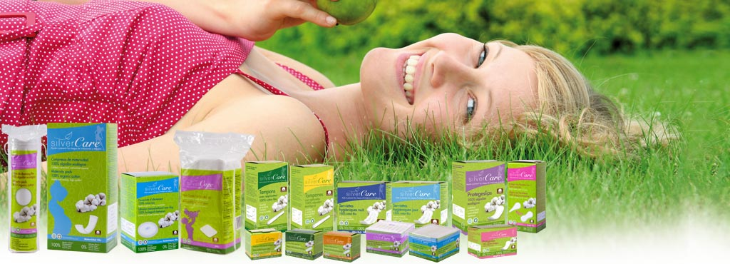 SILVERCARE_CERTIFIED_ORGANIC_COTTON_PRODUCTS_WOMEN_wide_range_Best_Eco_Product_France_supermarkets_drugstores_perfumeries_line