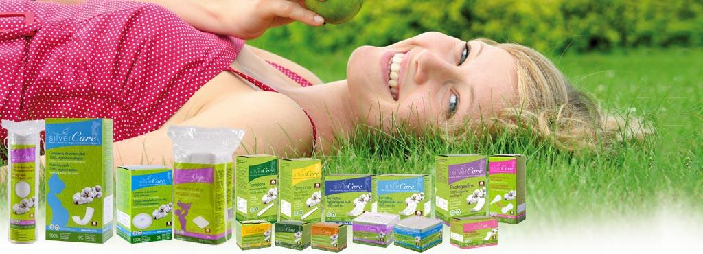 SILVERCARE_productos_exclusivos_higiene_femenina_algodon_ecologico_venta_canal_drogueria_perfumeria